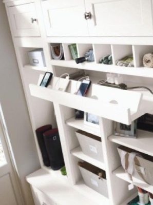 Charging station in mudroom-7 questions to consider before adding a mudroom-Richardson Custom Homes-Fort Myers–298x400jpg