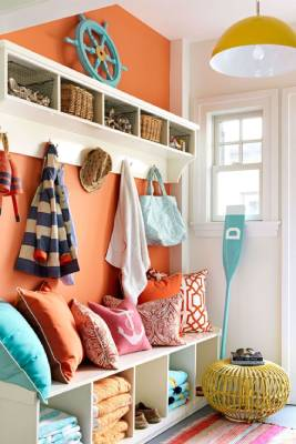 Colorful nautical mudroom-7 questions to consider before adding a mudroom-Richardson Custom Homes-Fort Myers–267x400jpg