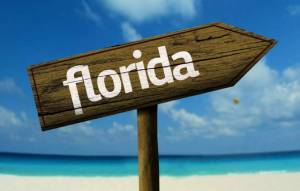 Florida sign with arrow - Pandemic Impact On SW Florida Real Estate -Richardson Custom Homes-Fort Myers-300x191jpg