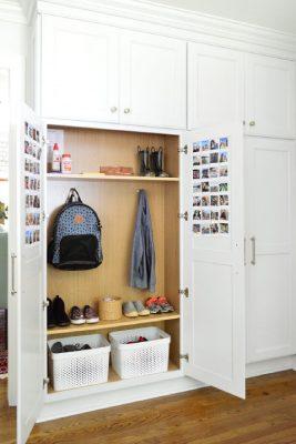 Hallway closet  turned into a mudroom-Richardson Custom Homes-Fort Myers–267x400jpg