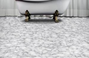 Marble look in bathroom-6 Flooring Options for your Florida Home -Part 1-Richardson Custom Homes-Fort Myers-300x197jpg