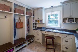 Mudroom including a home office-7 questions to consider before adding a mudroom-Richardson Custom Homes-Fort Myers–300x200jpg