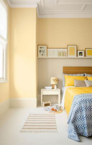 Pastel yellow bedroom-7 tips to choosing paint colors-Richardson Custom Homes-Fort Myers-300x472jpg