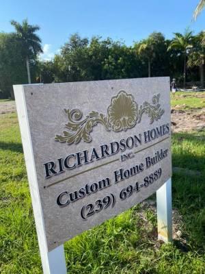 Richardson Homes sign-Pandemic Impact On SW Florida Real Estate-Richardson Custom Homes-Fort Myers-300x400jpg