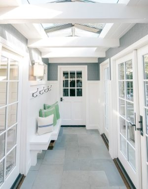 Tile floor in entryway in mudroom-7 questions to consider before adding a mudroom-Richardson Custom Homes-Fort Myers–300x381jpg