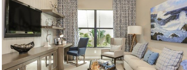 den or study - tips for creating your home office - Richardson Custom Homes - Fort Myers